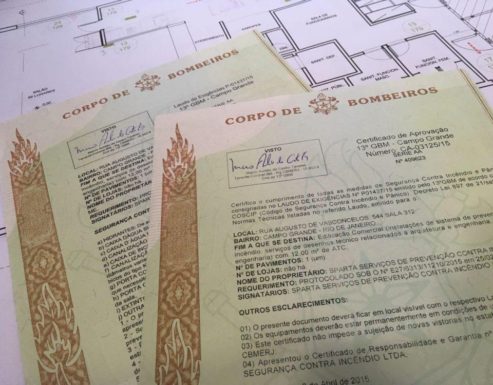 Processo simplificado para legalização junto ao Corpo de Bombeiros